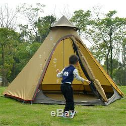 Uk Imperméable Lightweight Double Couche Famille Indian Style Tipi Tente Camping