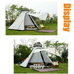 Uk-couche Imperméable Double Yourte Famille Indian Style Tipi Camping Tente Extérieure