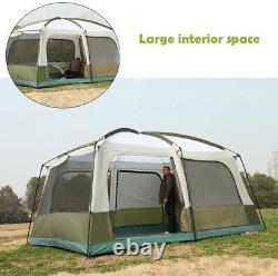 Ultra Grand Camping Familial 12 Personnes Tente Imperméable Tente De Randonnée Seulement Peu À Gauche