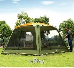 Ultralarge Moustiquaire Camping Grande Tente De Plage Abris Soleil Belvédère