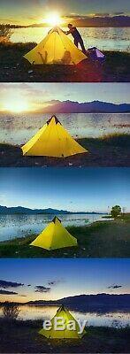 Ultraléger Camping En Plein Air Tipi 15d Silnylon Pyramide Tente 2-3 Personnes Grande Ul