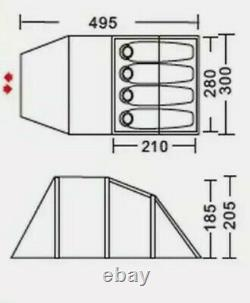 Urban Escape 4 Personne Tunnel Tente