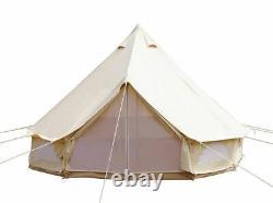 Us Canvas Bell Tent 6m Glamping Camping Bell Tente Yourtes Imperméables À L'eau Grande Extérieur