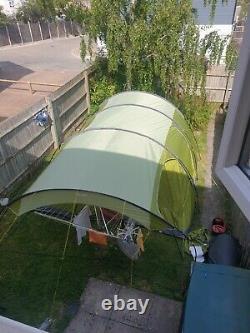 Vango Calder 600 6 Tente Rose Verte De Naissance Avec Auvent
