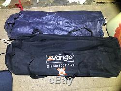 Vango Diablo 600 Tente, 2 X 3 Gousses Couchette Et Pleine Hauteur Grand Atrium Central