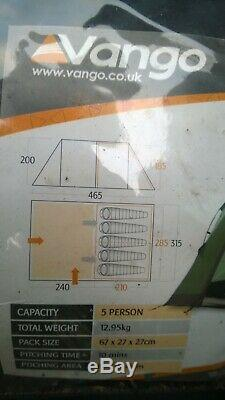 Vango Icarus 500 5 Personne Berth Famille Tente Camping Vacances Laurel Deluxe DLX Mk