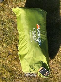 Vango Icarus Deluxe 500 Tente Avec Auvent. Utilisé En Très Bon État (vert)