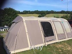 Vango Illusion Tc 500xl Tente De Grand Rayon D'air Avec Feuille Volante En Poly Coton De Luxe