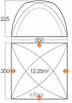 Vango Palerme 800 Airbeam Tente Avec Grande Vango Hogan Hub & Accessoires
