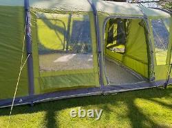 Vango Taiga 600xl Airbeam Large Tent Quick Fixe 12 Mins! Beaucoup De Condition