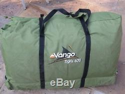 Vango Tigris 600 Grande Tente 6 Personnes Verte Utilisée Une Seule Fois