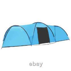 Vidaxl Camping Igloo Tent 650cm Cabine À Dôme Bleu 8 Personnes Tente De Randonnée Canopy