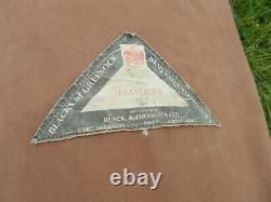 Vintage Blacks Of Greenock Traveller 2 Frame Tent Black & Edgington Ltd 4 Berth