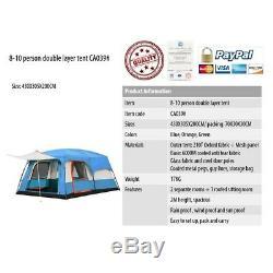 Voyage Imperméable 6-8 Personnes Grande Tente De Camping Double Couche Big Adventure