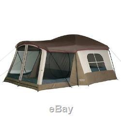 Wenzel Klondike 16 Pi. X 11 Pi. Grand Écran 8 Personne Chambre Extérieure Tente De Camping