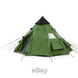 Yourte Tente Tipi Pour Camping Quatre Saison 6 Personne Grand Tipi De Survie Militaire